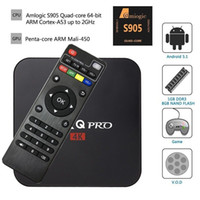 Wholesale MXQ Pro K Android TV Box Amlogic S905 Streaming Media Player Quad Core Android G wifi Kodi Fully Loaded High Quality New