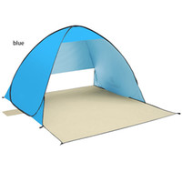 Wholesale outdoor leisure fishing automatic opening UV proof waterproof summer protable double person beach tent sun shelter mat