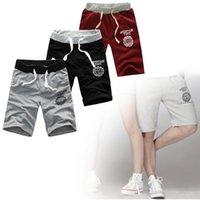 Wholesale Comfortable Summer New Men Casual Beach Shorts Five Sub Pants Waistband Classic elasticized cuffs