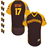 Wholesale 2016 All Mens Flexbase Kris Bryant Ben Zobrist Addison Russell Anthony Rizzo Jorge Soler Jersey