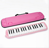 Wholesale Blue Pink Piano Keys senior Melodica Musical Instrument for Music Lovers Beginners Gift with Carrying Bag