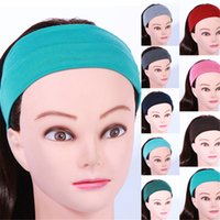 absorb fitness - Europe and the Elastic Stretch Hair Belt Movement Scarves Cloth Washing a Face Wide Hair Hoop Female Fitness Absorb Sweat Yoga Headdress