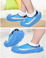 Wholesale Unisex mop slippers polar fleece cleaning slippers disposable slippers lazy slippers for women cleaning slippers for men