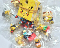 action delivery - randomly delivery hot Cartoon Pikachu pvc Action Figures Poke Anime Keychain Keyring Pendant Halloween christmas gifts D879