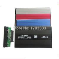 aluminum enclosure - High quality USB SATA hard disk driver HDD case enclosure DHL Fedex