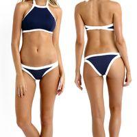 swimwear - New Fashion Women s Girl s Swimwear Triangle Bikini Set Beachwear Stretched Push Up Padded Polyamide Spandex Sexy S XL EB58