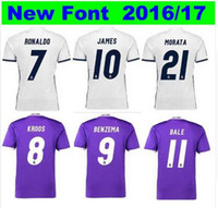 Wholesale 3A Whosales Madrid Jersey Soccer Jerseys football Real Cristiano Ronaldo Bale James Kroos Benzema Soccer uniform Best Thai Free shippi