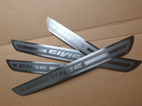 Wholesale For Honda Civic External Slim Door Sill Accessories Stainless Door Sills Scuff Plate Gaurds Pedal Protector Car Stickers set