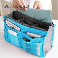 Wholesale Cosmetic Bag in Bag Double Zipper Portable Multifunctional Travel Pockets Handbag Storage Bag Fadish Travel Organizer Makeup Bag Hot