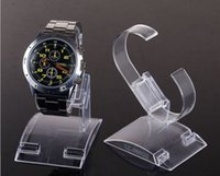 Relojes de los hombres titular España-estilo 20pcs / lot anillos C- venta caliente de plástico transparente del reloj del sostenedor de la exhibición del estante de la tienda Tienda Stands de gran tamaño para el reloj del hombre