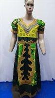 bazin rich - Y African Bazin rich dress traditional fashion women s clothing embroidery craft lady casual wear L2613