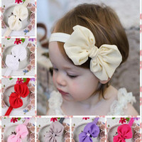 baby wrist bands - 10 colors Children s Hair Accessories Chiffon Rhinestone Flower Hair band Set Baby Girls Hair Band foot wrist flower girls headbands
