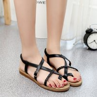 angle shoes - In the summer of the new low angle female buckle with the flat home leisure shoes