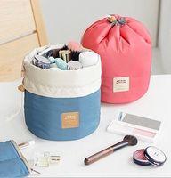 Wholesale Cylindrical Large Capacity Waterproof Washing Bag Multifunctional Portable Finishing Drawstring Cosmetic Bag Storage Bag