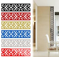 best free wallpapers - Best Buy D Mirror DIY Removable Wallpaper Skirting Wall Stickers Ceiling Background Decal Acrylic Home Decor JM29