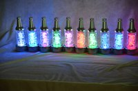 Wholesale 2016 Special Offer Rushed Green Cold White Blue Orange White Yellow Red Rgb Customized Wine Beer Bottle Glorifier Display Led Light Base