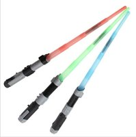 Wholesale Star Wars Lightsaber Light Saber Telescopic Star Wars Weapons laser Sword Toy with Light Sounds Action Figure Cosplay Toys
