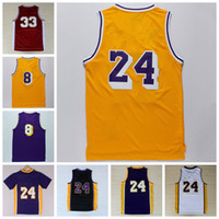 Wholesale 2016 Classical Basketball Jerseys Cheap Throwback Basket ball Sport Shirt With Player Name Team Logo Retro Yellow Black White Purple