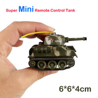 Wholesale Creative Super Mini Simulation Electronic Remote Control Camouflage Tank for Children Birthday Chirstmas Holiday Gift