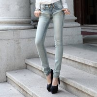 asian skinny jeans - Women s Skinny Slim Thin Jeans Cheap Ripped jeggings Fitness Slim Jeans Pants Asian Size
