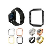 Wholesale Fitbit Blaze Accessory Band color Black Gold Silver rosegold Replacement Stainless Steel Metal Frame Case Housing for Fitbit Blaze