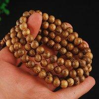 Mode Vintage Wenge Bois Naturel 6MM / 8MM Perles Stretch Bracelet En Bois Hommes 108 Bouddha Bracelets Bracelet Cadeau Charme