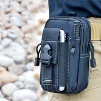 belt clip purse - Wallet Pouch Purse Phone Case Outdoor Tactical Holster Military Molle Hip Waist Belt Bag with Zipper for iPhone Samsung