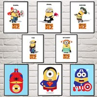 animated cartoons kids - Animated Movie Despicable Me Minions Carl Phil Tim Kevin Stuart Art Silk Poster Home Wall Decor Paintings Unframed X32 Inch