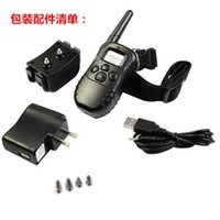 Wholesale 300M LCD LV Level Electric Shock Vibra Pet Dog Training Collar Waterproof And Rechargeable ZD082B