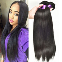 Wholesale Straight Brazilian Hair Weave Human Hair Weave Bundles Peruvian Hair Malaysian Hair Extensions Grade A Hair Products