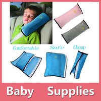 Wholesale Soft Baby Children Car Seat Belt Shoulder Pillow Car Safety Strap Belts Pillow Protection With Colors Blue Pink Grey