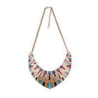Wholesale Get Amazing colorful fashion s best selling large enamel collar necklace collar declare Christmas gifts for women