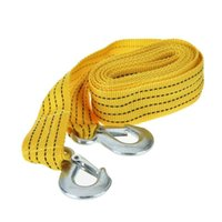 Wholesale 3 Tons Tow Cable Towing Rope with Hooks for Heavy Duty Car Emergency Tow Strap