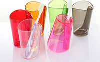 Wholesale Generic Brush Teeth Wash Gargle Plastic Cup Popular plastic Brushing Cup Toothbrush holder Plastic