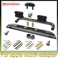 Wholesale Stainless steel Band Connectors Adapter For iwatch Band Watch Strap For Apple Watch mm mm DHL Free