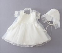 Wholesale Newborn High Quality yrs set baby Baptism Dress Christening Gown Girls party Infant Princess wedding dresses