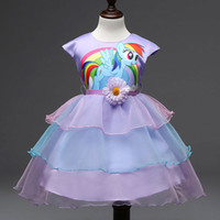 Cheap Made in China girl fashion party dress My Little Pony princess costume for kid in stock AM0019