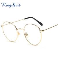 Wholesale KingSwit Fashion Brand Round Eyeglasses For Men Women Golden Metal Frame Eye Glasses Classic Retro Reading Eyewear KE109