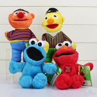 bert and ernie - 23cm Sesame Street Elmo Cookie Ernie Bert plush doll super cute and soft stuffed plush toy For Children gift