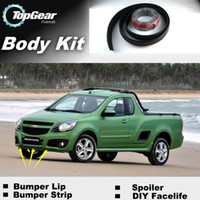Wholesale Bumper Lips For Chevrolet Montana Tornado Corsa Utility Front Skirt Deflector Spoiler For Car Tuning The Stig Recommend Body Kit Strip