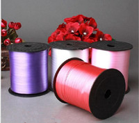 balloon curling ribbon - Curling Balloon Ribbon for Flower Gifts color yd m Wedding Party Decor Ribbon Rolls Event Festive Supplies Hot Sale