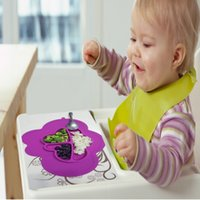 Wholesale cloud Design FDA approved Silicone baby Placemat Plate Tray Self Suction waterproof placement for Kids Toddlers Babies