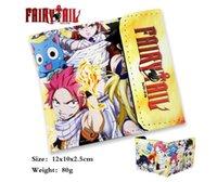 anime purse sale - Hot Sale Japan Korea Anime Cartoon Cosplay Fairy Tail Wallet Money Clip Credit Card Purse Phone Case For Boy Girl Kids