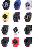 belt buckle display - 5pcs Electronics Sports Watches Men Waterproof G100 Digital LED Mens Womens Watch Women Boys Girls