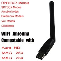 antenna tops - Wireless Mini USB Antenna WiFi Adapter Dongle For MAG Mag250 Linux System IPTV Set Top Box Computer PC