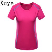 Wholesale Outdoor woman Breathable Coolmax Tshirt girl Short Sleeve T shirts Quick Dry Hiking camping yoga Fishing Sport running T shirt