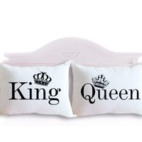 Wholesale Drop Shipping King Queen Couple Decorative Pillowcase Valentine s Day Gift Body Pillow Case Romantic cmx75cm cmx90cm for Chris