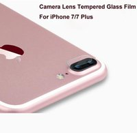 apple cover stickers - For iphone7 Tempered Glass Camera Lens Protector Back Film Rear Protective Sticker Phone Cover For iPhone Plus