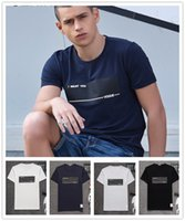 european fashion for men - 2016 Luxury Brand Fashion t Shirts For Men European Simple Cotton Mens t Shirts Slim Fit Crew Neck t Shirt Tops For Gentleman