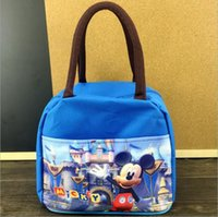 backpack lunchbox - Cartoon Lunch Bags for Kids New Mickey Minnie Frozen Handbags Nylon Oxford Kids Lunch Bags Picnic Bags Outdoor School Meal Package Lunchbox